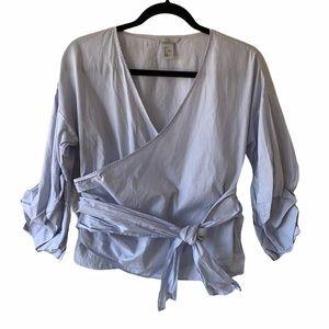 H&M Faux Wrap Top/Shirt